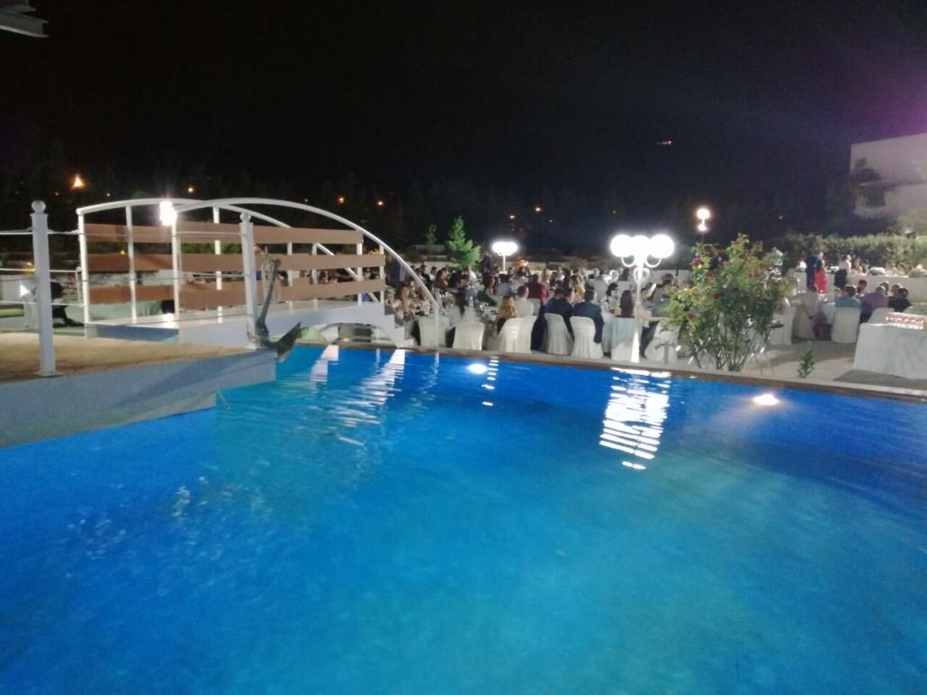 εξωτερικός χώρος royal stars - πισίνα
